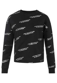 Czarna bluza bonprix z nadrukiem