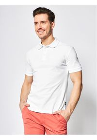 Biała koszulka polo Cavalli Class polo