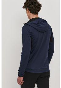 Niebieska bluza rozpinana 4f na co dzień, z kapturem