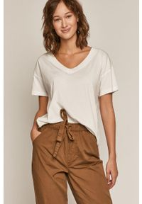 medicine - Medicine - T-shirt Basic. Okazja: na co dzień. Kolor: biały. Materiał: bawełna, dzianina. Wzór: gładki. Styl: casual