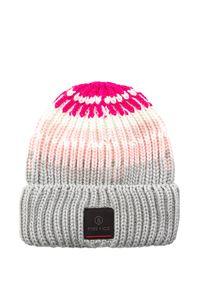 Różowa czapka Bogner sportowa, w prążki