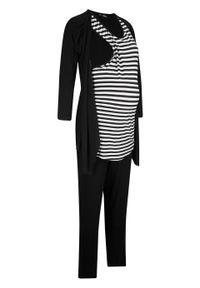 Czarny kombinezon bonprix moda ciążowa, sportowy