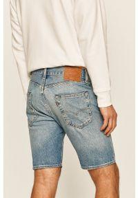 Levi's® - Levi's - Szorty jeansowe 501. Okazja: na spotkanie biznesowe. Kolor: niebieski. Materiał: jeans. Styl: biznesowy