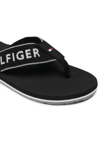 Japonki TOMMY HILFIGER - Hilfiger Webbing Beach Sandal FM0FM03641 Black BDS. Okazja: na plażę. Kolor: czarny. Materiał: materiał. Sezon: lato