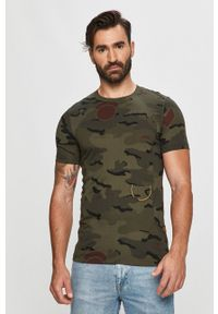 T-shirt G-Star RAW z okrągłym kołnierzem, casualowy
