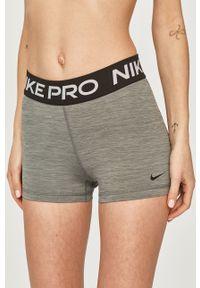 Szare szorty Nike sportowe, z nadrukiem