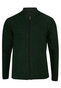 Zielony sweter elegancki, na jesień