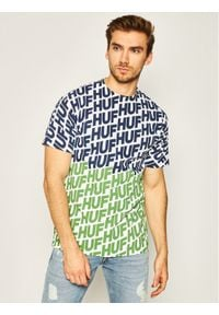 HUF T-Shirt Wave TS01001 Biały Regular Fit. Kolor: biały