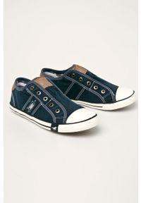 Mustang - Tenisówki. Nosek buta: okrągły. Zapięcie: sznurówki. Kolor: niebieski. Materiał: guma