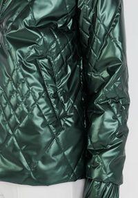 Born2be - Zielona Kurtka Leucephia. Kolor: zielony #5