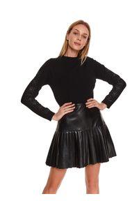 Czarny sweter TOP SECRET z aplikacjami