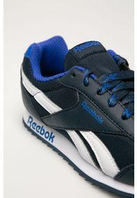 Niebieskie buty sportowe Reebok Classic Reebok Classic, z cholewką, z okrągłym noskiem