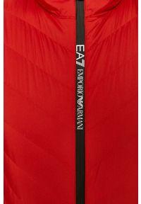 Czerwona kurtka EA7 Emporio Armani z kapturem