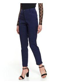 Niebieskie spodnie TOP SECRET z podwyższonym stanem, do pracy