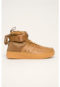Złote buty sportowe Big-Star z cholewką, na sznurówki