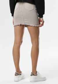 Beżowa spódnica mini Born2be