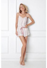 Aruelle - Piżama Paola. Kolor: różowy. Materiał: materiał