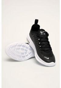 Czarne buty sportowe Nike Kids na sznurówki, Nike Air Max, z okrągłym noskiem, z cholewką