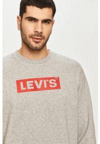 Levi's® - Levi's - Bluza. Okazja: na spotkanie biznesowe, na co dzień. Kolor: szary. Wzór: nadruk. Styl: casual, biznesowy