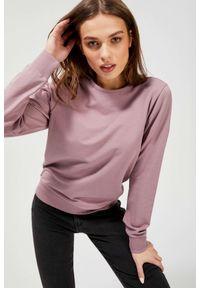 MOODO - Bluza z ozdobną koronką na plecach. Materiał: koronka. Długość rękawa: długi rękaw. Długość: długie. Wzór: koronka
