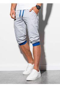 Szare szorty Ombre Clothing krótkie, klasyczne