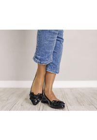 Czarne baleriny Zapato wąskie, w kolorowe wzory