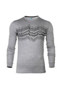 Koszulka termoaktywna męska Odlo Merino Shirt 110612. Materiał: dzianina, materiał, wełna, tkanina, włókno, skóra