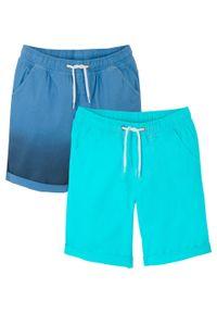 Bermudy chłopięce Regular Fit (2 pary) bonprix morsko-niebieski. Kolor: niebieski