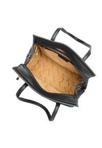 Wittchen - Kuferek z dużą kieszenią. Kolor: czarny. Materiał: skórzane. Styl: klasyczny, casual, elegancki, biznesowy. Rodzaj torebki: na ramię #4