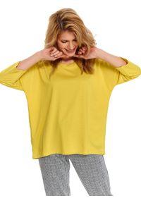 Żółta bluza TOP SECRET na wiosnę, w kolorowe wzory