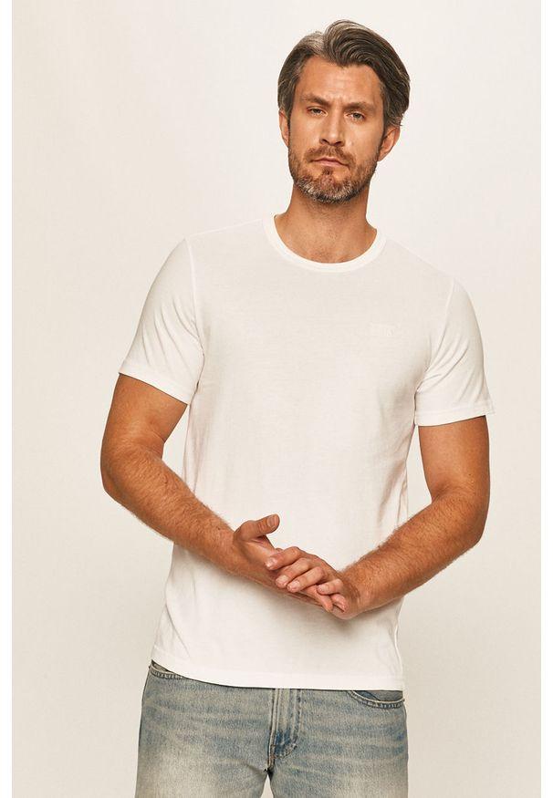 Biały t-shirt Levi's® z okrągłym kołnierzem, z aplikacjami, biznesowy