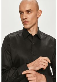 Czarna koszula Karl Lagerfeld długa, z długim rękawem