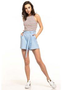 Niebieskie spodnie Tessita krótkie