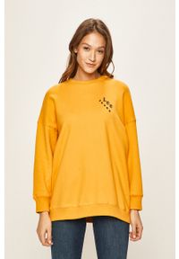 Lee - Bluza. Kolor: żółty. Materiał: dzianina