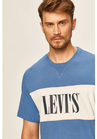 Wielokolorowy t-shirt Levi's® biznesowy, na spotkanie biznesowe, z nadrukiem