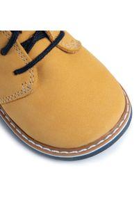 Bartek - Trzewiki BARTEK - 81852-5/1LT Żółty 1. Kolor: żółty. Materiał: skóra, nubuk. Szerokość cholewki: normalna. Sezon: zima, jesień