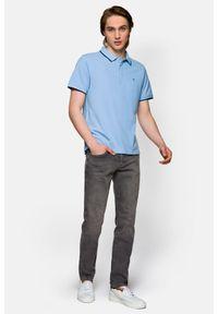 Szare jeansy Lancerto z aplikacjami