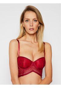Czerwony biustonosz bardotka Calvin Klein Underwear