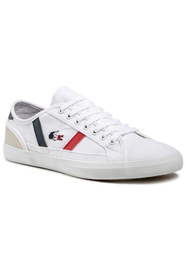 Lacoste - Tenisówki LACOSTE - Sideline Tri2 Cma 7-39CMA0045407 Wht/Nvy/Red. Kolor: biały. Materiał: zamsz, materiał, skóra. Szerokość cholewki: normalna. Styl: klasyczny