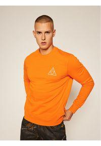 HUF Bluza Essentials PF00101 Pomarańczowy Regular Fit. Kolor: pomarańczowy