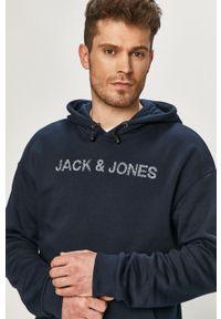Jack & Jones - Bluza. Okazja: na co dzień. Kolor: niebieski. Materiał: dzianina. Wzór: gładki. Styl: casual