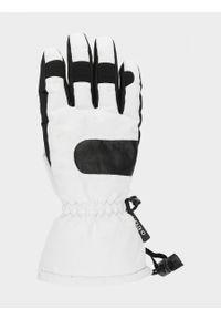 Białe rękawiczki sportowe outhorn narciarskie