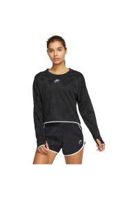 Koszulka damska do biegania Nike Air Midlayer Crew CJ1882. Materiał: poliester, materiał, elastan. Długość rękawa: długi rękaw. Technologia: Dri-Fit (Nike). Długość: długie. Sport: bieganie