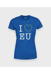 MegaKoszulki - Koszulka damska I love EU. Materiał: bawełna
