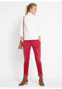 Sweter basic z golfem bonprix biel wełny. Typ kołnierza: golf. Kolor: biały. Materiał: wełna