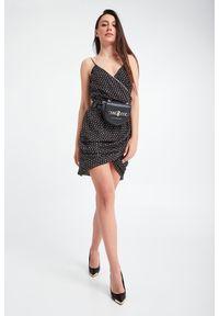 Sukienka John Richmond mini, kopertowa, elegancka