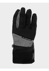 4f - Rękawice narciarskie męskie. Kolor: szary. Materiał: materiał, syntetyk. Technologia: Thinsulate. Sezon: zima. Sport: narciarstwo