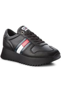 Czarne buty sportowe Tommy Jeans