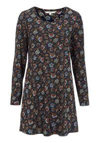 Cellbes Wzorzysta tunika z dżerseju niebieski we wzory female niebieski/ze wzorem 42/44. Kolor: niebieski. Materiał: jersey. Długość rękawa: długi rękaw. Długość: długie