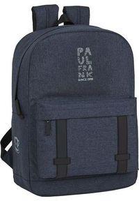 Niebieski plecak na laptopa street